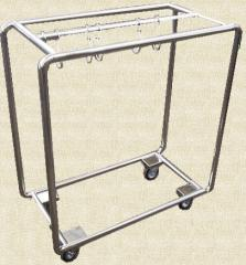 Load trolleys for the food industry, the cart for