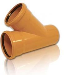PVC tees f200kh110kh45 * for sewer pipes