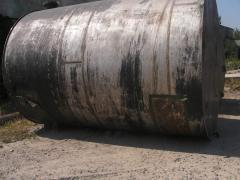Capacities corrosion-proof on 25m.kub., horizontal