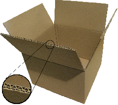 We make boxes from 3, 5 layer corrugated