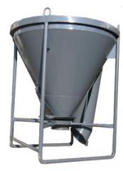 Tub for concrete – 1 m3; tub of 1,5 m3; 2,0 m3;