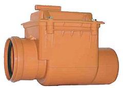 Клапан запорный канализационный ф100