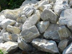 Камінь твердий, вапняно-доломітний, темно-сірий,