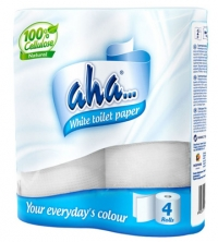 Aha toilet paper 4 rolls 2-layer white (Code: