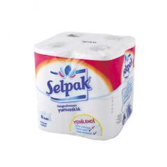Туалетная бумага Selpak 8шт белая 2-х слойная