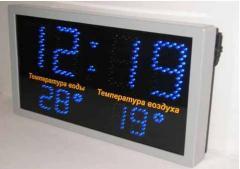 Часы для установки в бассейнах для отображения