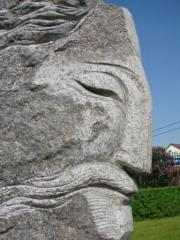 Architectural forms park, landscape: Statues from