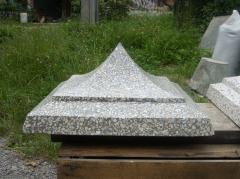 Крышки бетонные на заборы