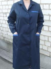 Dressing gowns working from factory at the