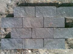 Stone blocks chipped and sawn granite (gabbro)