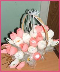 Bouquet z tsukerok