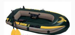 Inflatable boat of Intex 68347 pump + oars