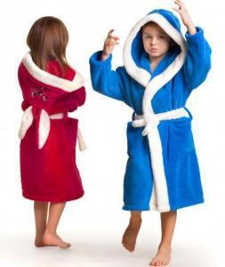 Махровый детский халат с ушами и карманами Зайка