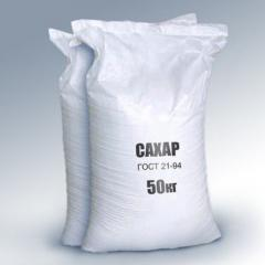 The sugar which is packed up by wholesale of GOST