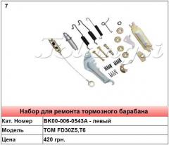 Duplicate parts for the TCM FD30Z5,T6 brake drum