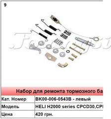 Duplicate parts for the brake drum HELI H2000