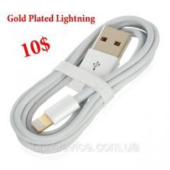 Кабель для iPhone 5 Gold Plated Lightning 8-Pin