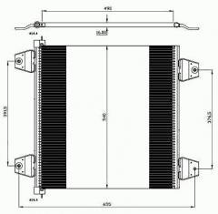 Радиатор кондиционера RENAULT RVI PREMIUM '97-