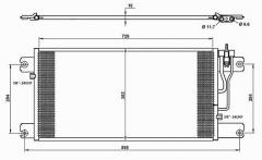 Радиатор кондиционера MERCEDES ATEGO  '04-