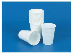 Sets of glasses of road disposable white