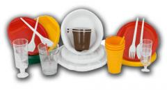 Disposable tableware from food plastic