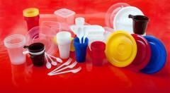 Serving disposable tableware, plastic