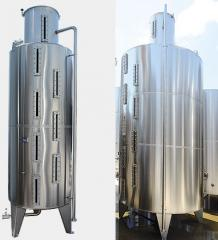 Measuring tanks for the food industry, alcohol