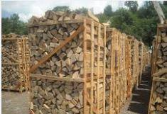 Firewood in pallets, oak firewood, birch firewood,