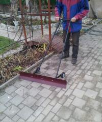 Snow blower, snowplow, snow-removing equipment,