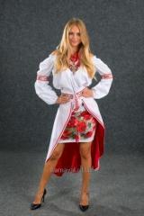 Suit Ukrainian female stylized