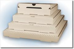 Packaging cardboard for pizza, cardboard boxes