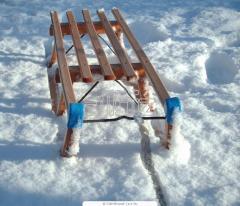 Санки детские деревянные