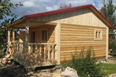 Wooden baths from a glued bar