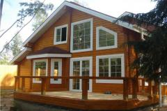 Houses frame wooden: the Finnish wooden houses,