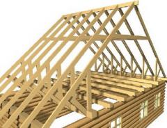Rafters for a roof. Rafters wooden.