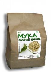 Green buckwheat flour.