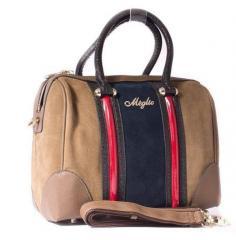Женская сумка Meglio синяя/коричневая 791235