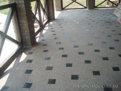 Granite floors, steps, ladders from granite