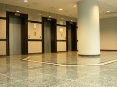 Lift portals. Facing by granite