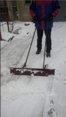 La pala para la limpieza de la nieve,