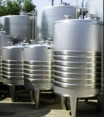 Capacities for bulks, tanks
