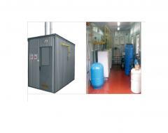 Transportable boiler rooms of TKK-96, TKK-192 and