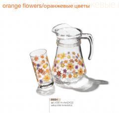 Набор Кувшин + 4 стакана, Серия посуды из стекла с