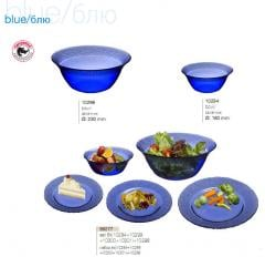 Salad bowls and plates from the tempered glass to