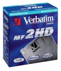 "Diskettes 3,5 ""2HD Verbatim black 10"