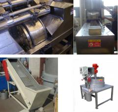 Cars for cutting and crushing, the equipment for
