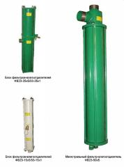 Filters of purification of the compressed gases