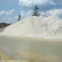 Песок стекольный кварцевый согласно ГОСТу 22551-77