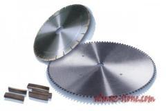 Operation of cutting segment wheels