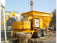 Mobile concrete plant. Rent of BSU